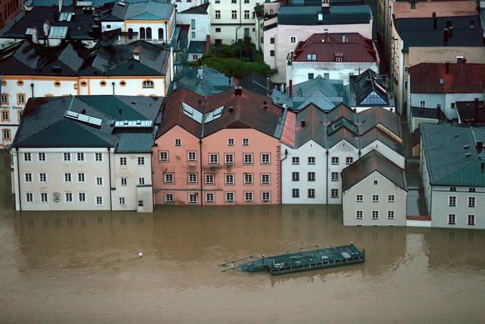 Наводнение в баварском Пассау. Фото: Johannes Simon/Getty Images