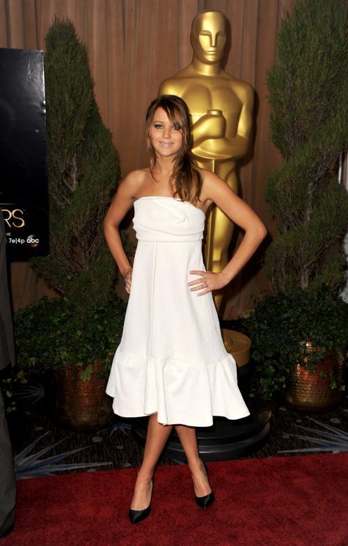 Дженнифер Лоуренс на 85th Academy Awards Nominations Luncheon 4 февраля 2013 года в Лос-Анджелесе. Фото: Kevin Winter/Getty Images