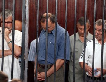 Вынесение приговора 4 июня 2012 года в Триполи. Фото: MAHMUD TURKIA/AFP/GettyImages