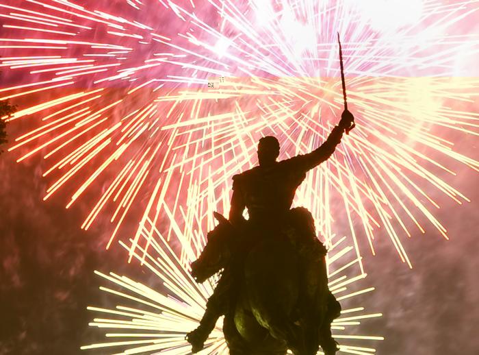 Фейерверк в столице США Вашингтоне 4 июля 2013 года. Фото: MANDEL NGAN/AFP/Getty Images