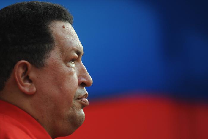 Президент Венесуэлы Уго Чавес. Фото: LEO RAMIREZ/AFP/Getty Images