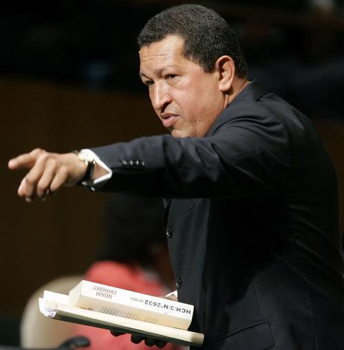 Президент Венесуэлы Уго Чавес. Фото: Stephen Chernin/Getty Images