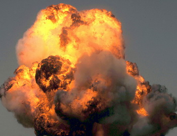 Взрыв. Фото: SHAH MARAI/AFP/Getty Images