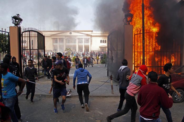 Смертный приговор фанатам привёл к массовым протестам в Каире. Фото:  -/AFP/Getty Images