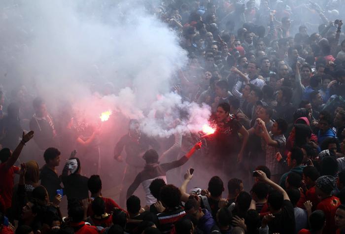 Смертный приговор фанатам привёл к массовым протестам в Каире. Фото: MAHMUD KHALED/AFP/Getty Images