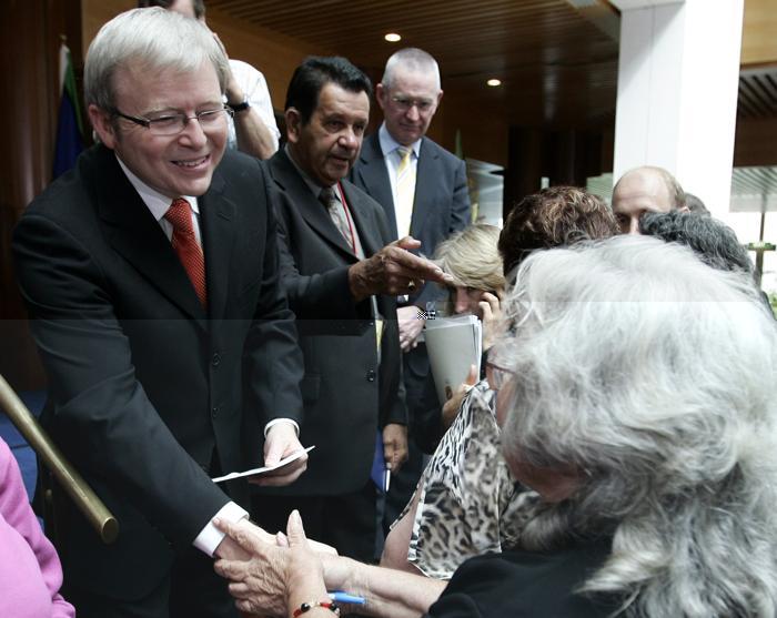 Премьер-министр Кевин Радд 13 февраля 2008 года. Фото: Andrew Sheargold/AFP/Getty Images