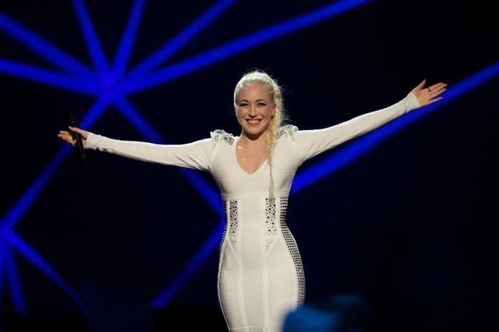 Маргарет Бергер из Норвегии во втором полуфинале Евровидения-2013. Фото: Ragnar Singsaas/Getty Images 12.Группа Takasa из Швейцарии во втором полуфинале