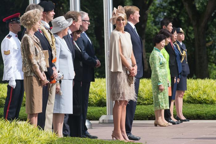 Принцесса Максима наблюдает во время официальной встречи королевы Нидерландов Беатрикс, 24 января 2013 года. Фото: Chris McGrath/Getty Images