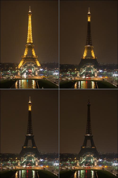 Во Франции прошёл Час Земли. Фото: BERTRAND LANGLOIS/AFP/Getty Images