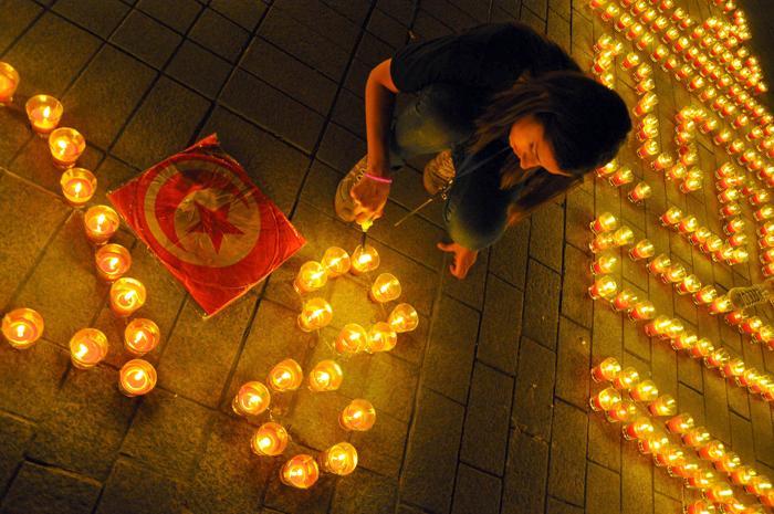 Во Франции прошёл Час Земли. Фото: Safa Laamiri/AFP/Getty Images