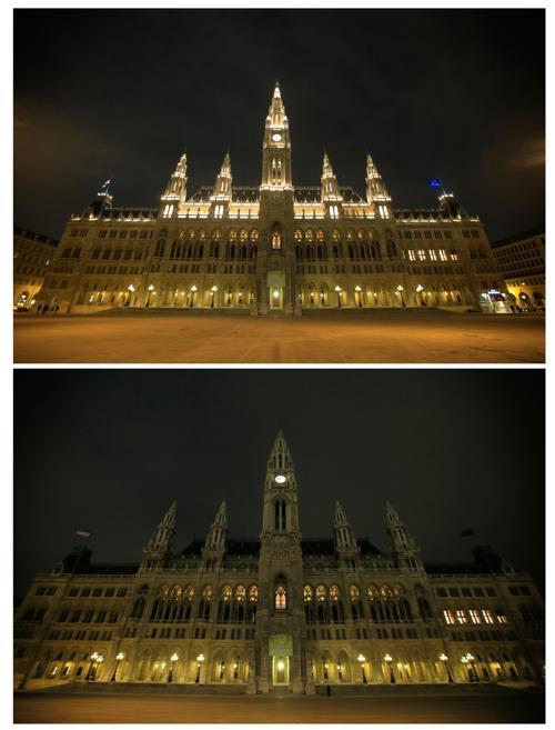 Во Франции прошёл Час Земли. Фото:  ALEXANDER KLEIN/AFP/Getty Images