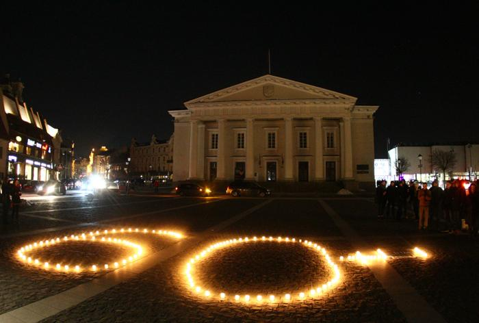 В Литве прошёл Час Земли. Фото: PETRAS MALUKAS/AFP/Getty Images