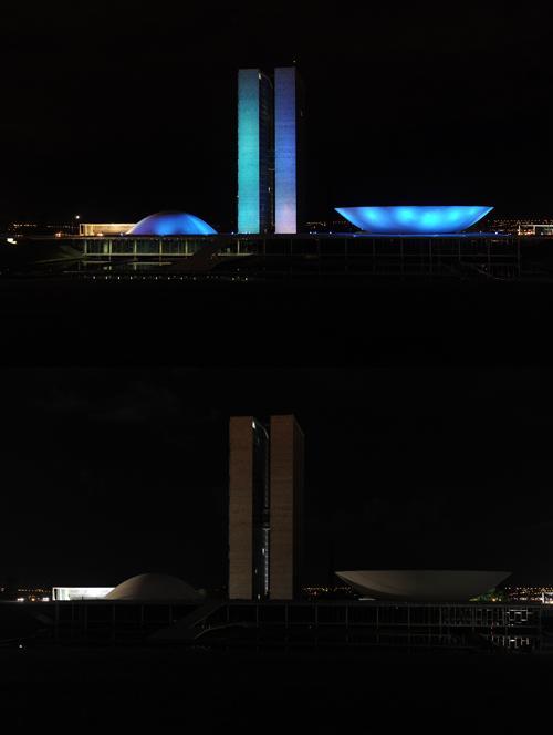 В Бразилии прошёл Час Земли. Фото: EVARISTO SA/AFP/Getty Images
