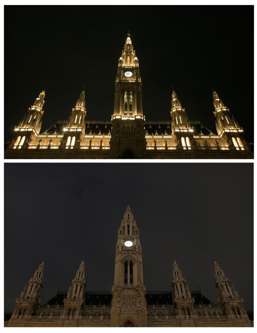 В Австрии прошёл Час Земли. Фото: ALEXANDER KLEIN/AFP/Getty Images