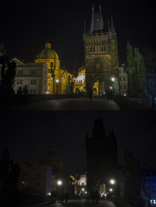 В Чехии прошёл Час Земли. Фото: MICHAL CIZEK/AFP/Getty Images