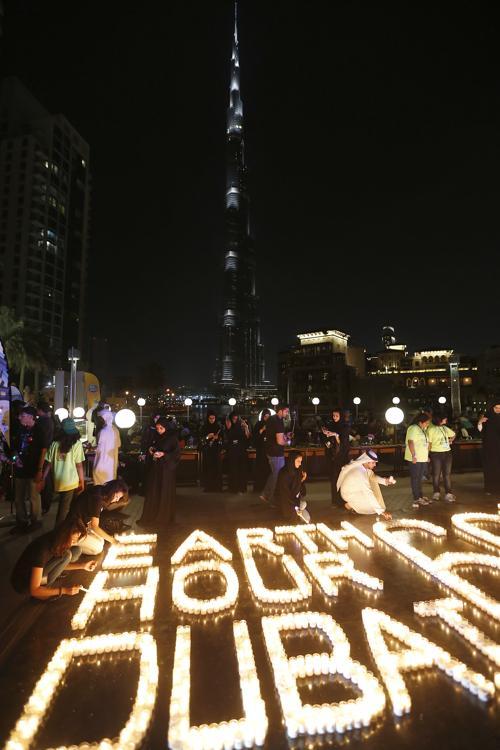 В Объединённых арабских эмиратах (ОАЭ) прошёл Час Земли. Фото: KARIM SAHIB/AFP/Getty Images