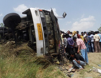 Авария в Индии: Фото: STRDEL / AFP / GettyImages