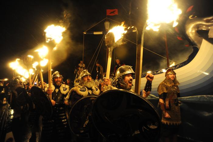 Фестиваль викингов в Шотландии, 29 января 2013 года. Фото: Andy Buchanan / AFP / Getty Images
