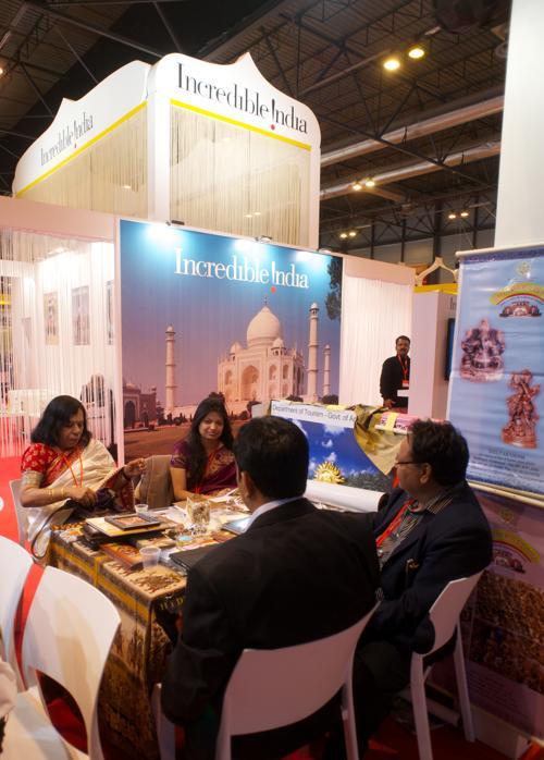 Индийский стенд на международной выставке туризма FITUR, Испания, 30 января 2013 года. Фото: Carlos Alvarez / Getty Images