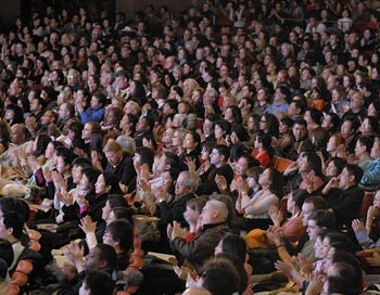 Зрители концерта Shen Yun. Фото: Ли Юань/The Epoch Times