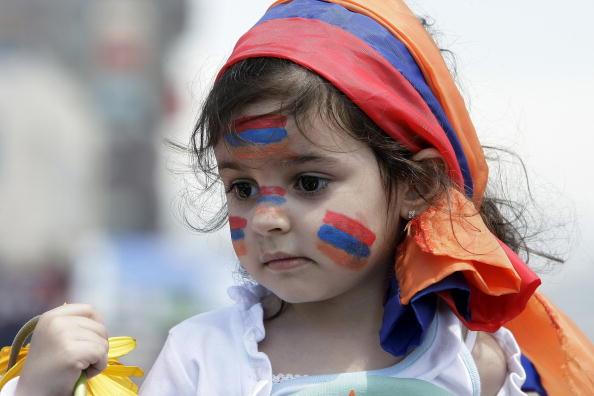 Армяне по всему миру отмечают 95 годовщину геноцида своего народа. Фото: JOSEPH EID/AFP/Getty Images