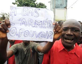 Гвинея. Сентябрь 2009 года. Фото: SEYLLOU/AFP/Getty Images