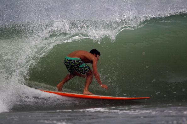 Фоторепортаж о приближающемся урагане «Айрин» на пляжах Флориды. Фото: