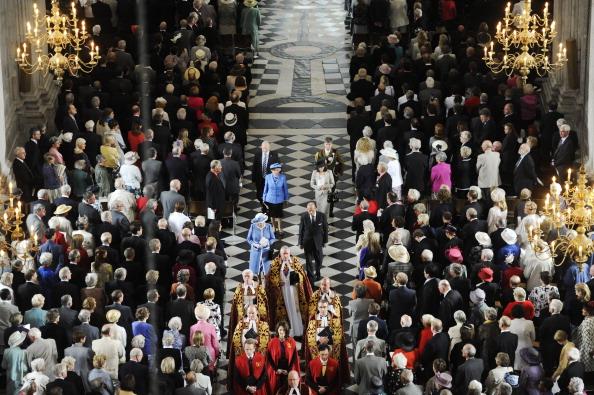 Фоторепортаж о визите королевы Елизаветы II в собор Святого  Павла