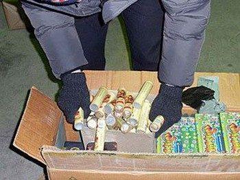 Две тонны нелегальных фейерверков конфискованы в Падуе. Фото с megairk.ru