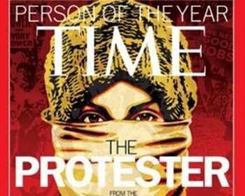 Американский журнал Time определил «человека года» - им стал собирательный образ протестующего демонстранта. Фото с news.nordportal.ru