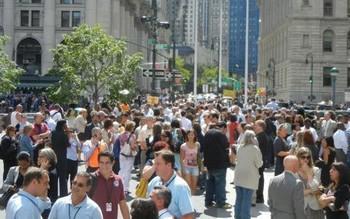 Эвакуация в Нью-Йорке. Фото VOA