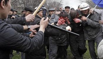 В Жанаозене расстреляли демонстрантов. Фото с etoday.ru