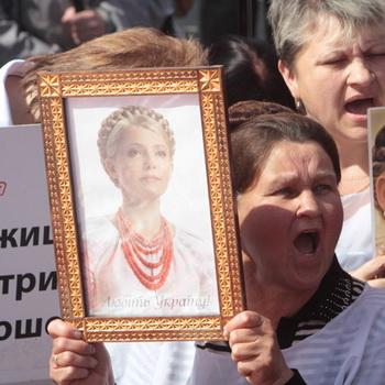 Сторонники заключенной экс-премьера Украины Юлии Тимошенко проводят акцию «За Украину без репрессий». Фото РИА Новости