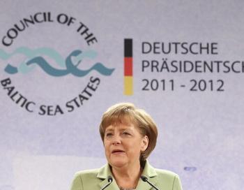 Ангела Меркель на Саммите государств Балтийского моря в Штральзунде 31 мая 2012 г. Фото: Sean Gallup/Getty Images