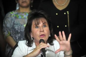Сандра Торрес де Колом. Фото: JOHAN ORDONEZ/AFP/Getty Images