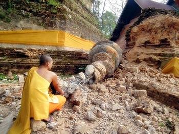 Число жертв землетрясения в Мьянме достигло  60 челове. Фото: STR/AFP/Getty Images