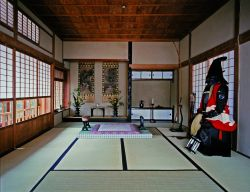Интерьер библиотеки семьи Уэда и домика для наук. Фото: Courtesy of Ueda-Wafudou