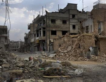 Улица в сирийском городе Кусайр, 20 июня 2012. Фото: AFP/GettyImages