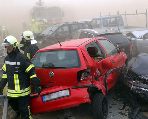 Песчаная буря в Германии стала причиной самой крупной автокатастрофы. Фоторепортаж. Фото с сайта ctv.by