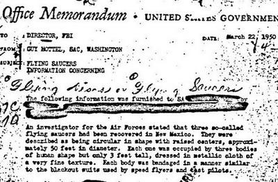 Документы ФБР подтверждают, что  три НЛО в 1950 году потерпели крушение в Розуэлле. Фото с сайта happytimes.ch
