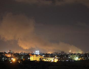 Израильская  авиация наносит   удары по сектору Газа. Фото: Christopher Furlong / Getty Images