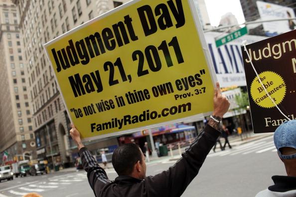 Конец Света не может начаться без большой рекламной кампании. Нью-Йорк. Фото: Spencer Platt/Getty Images