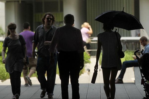 Фоторепортаж о наступлении жары в Нью-Йорке. Фото: Spencer Platt/Getty Images