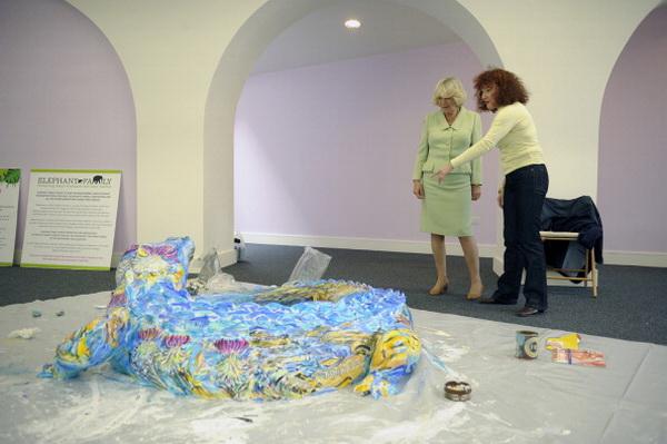 Фоторепортаж о посещении герцогиней Корнуольской Камиллой выставки «Город Джунглей» в Эдинбурге. Фото: Jayne Wright - WPA Pool/Getty Images