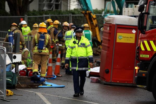 Фоторепортаж с места мощного взрыва в  Окленде, Новая Зеландия. Фото: Phil Walter/Getty Images