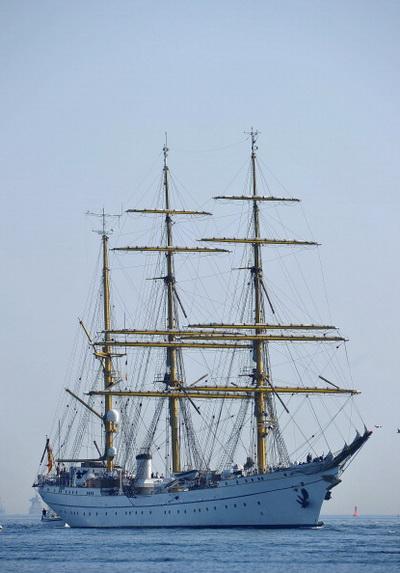 Фоторепортаж о возвращении корабля «Горх Фок» в Германию. Фото: Joern Pollex/Getty Images