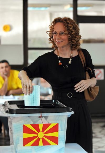 Фоторепортаж о парламентских выборах в Македонии. Фото: AFP PHOTO / ROBERT ATANASOVSKI