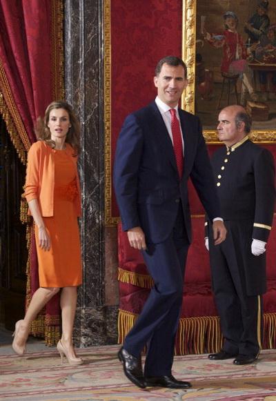 Фоторепортаж о встрече принца Испании Фелипе и принцессы Летиции с генерал-губернатором Австралии Квентин Брайс. Фото: Carlos Alvarez/Getty Images