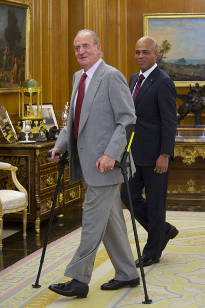 Фоторепортаж о встрече короля Испании Хуана Карлоса и президента Гаити Мишеля Джозефа в Мадриде. Фото: Carlos Alvarez/Getty Images