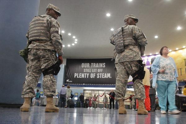 Фоторепортаж с пресс-конференции в Нью-Йорке об увеличении скорости высокоскоростных поездов. Фото: TIMOTHY A. CLARY/AFP/Getty Images